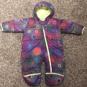 Columbia 12 months down baby bunting snowsuit